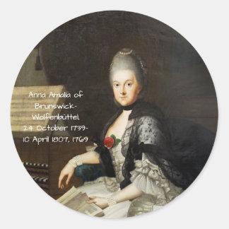 Anna Amalia of Brunswick-Wolfenbuttel 1769 Classic Round Sticker