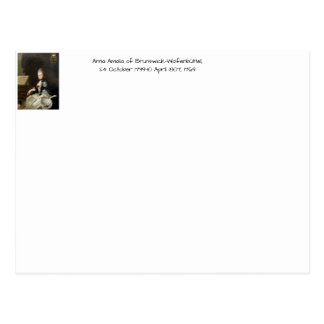 Anna Amalia of Brunswick-Wolfenbuttel 1769 Postcard