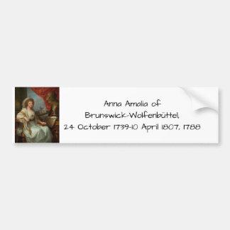 Anna Amalia of Brunswick-Wolfenbuttel 1788 Bumper Sticker