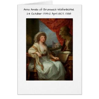 Anna Amalia of Brunswick-Wolfenbuttel 1788 Card