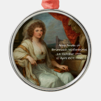 Anna Amalia of Brunswick-Wolfenbuttel 1788 Metal Ornament