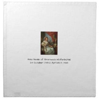 Anna Amalia of Brunswick-Wolfenbuttel 1788 Napkin