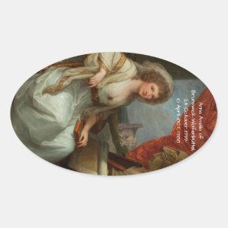 Anna Amalia of Brunswick-Wolfenbuttel 1788 Oval Sticker