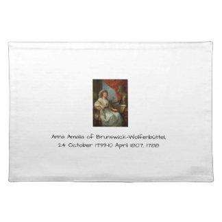 Anna Amalia of Brunswick-Wolfenbuttel 1788 Placemat