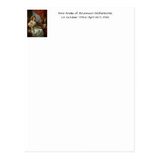 Anna Amalia of Brunswick-Wolfenbuttel 1788 Postcard