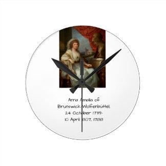 Anna Amalia of Brunswick-Wolfenbuttel 1788 Round Clock