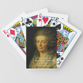 Anna Amalia of Brunswick-Wolfenbuttel 1795 Bicycle Playing Cards