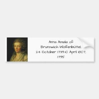 Anna Amalia of Brunswick-Wolfenbuttel 1795 Bumper Sticker