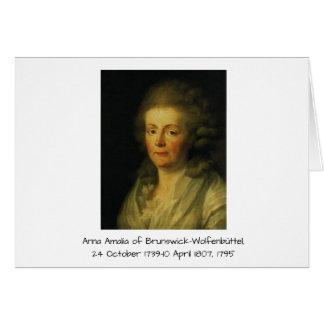 Anna Amalia of Brunswick-Wolfenbuttel 1795 Card