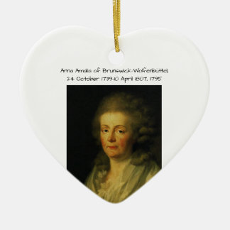 Anna Amalia of Brunswick-Wolfenbuttel 1795 Ceramic Ornament