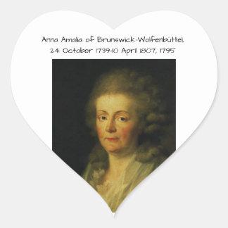 Anna Amalia of Brunswick-Wolfenbuttel 1795 Heart Sticker