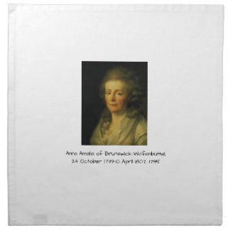 Anna Amalia of Brunswick-Wolfenbuttel 1795 Napkin