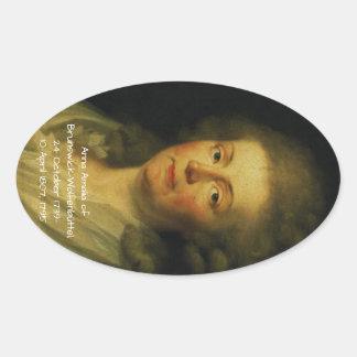 Anna Amalia of Brunswick-Wolfenbuttel 1795 Oval Sticker