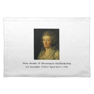 Anna Amalia of Brunswick-Wolfenbuttel 1795 Placemat