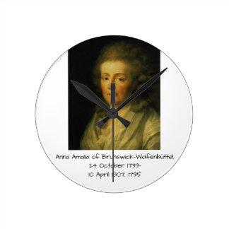 Anna Amalia of Brunswick-Wolfenbuttel 1795 Round Clock
