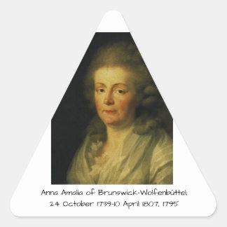 Anna Amalia of Brunswick-Wolfenbuttel 1795 Triangle Sticker