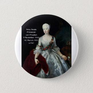 Anna Amalia Prinzessin von Preuben c1740 2 Inch Round Button