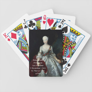 Anna Amalia Prinzessin von Preuben c1740 Bicycle Playing Cards