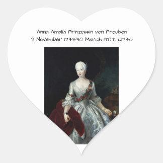 Anna Amalia Prinzessin von Preuben c1740 Heart Sticker