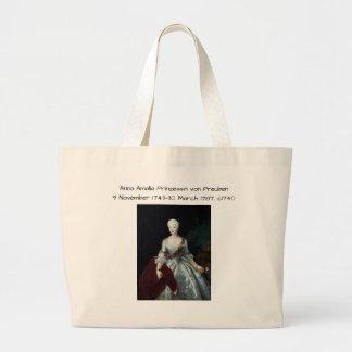 Anna Amalia Prinzessin von Preuben c1740 Large Tote Bag
