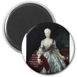 Anna Amalia Prinzessin von Preuben c1740 Magnet