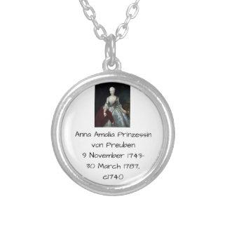 Anna Amalia Prinzessin von Preuben c1740 Silver Plated Necklace