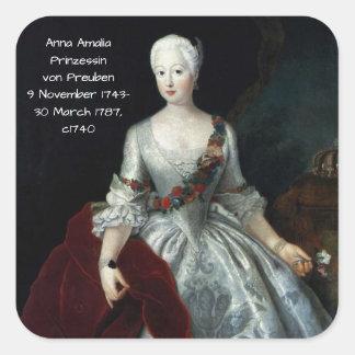Anna Amalia Prinzessin von Preuben c1740 Square Sticker