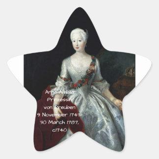 Anna Amalia Prinzessin von Preuben c1740 Star Sticker