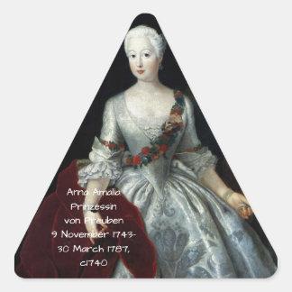 Anna Amalia Prinzessin von Preuben c1740 Triangle Sticker