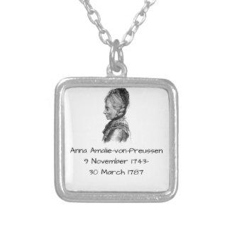 Anna amalie von Preussen Silver Plated Necklace