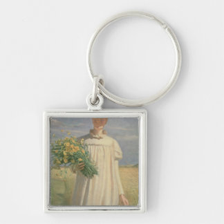Anna Ancher returning from Flower Picking, 1902 Key Chains