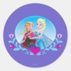 Anna and Elsa | Embracing Classic Round Sticker