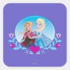 Anna and Elsa | Embracing Square Sticker