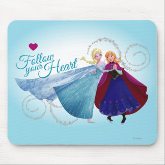 Anna and Elsa | Family Love Mouse Pad