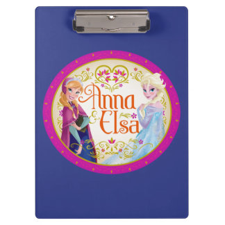 Anna and Elsa | Floral Frame Clipboard