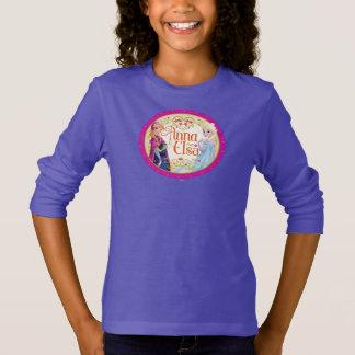 Anna and Elsa | Floral Frame T-Shirt