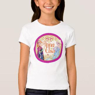 Anna and Elsa   Floral Frame T-Shirt