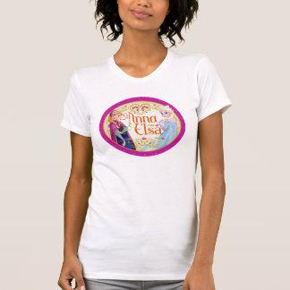 Anna and Elsa | Floral Frame Tshirts