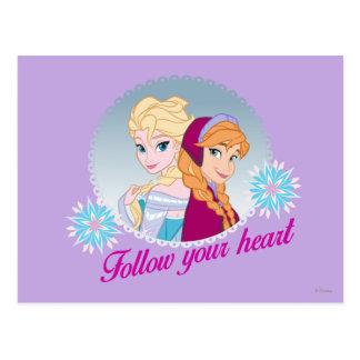 Anna and Elsa | Follow Your Heart Postcard
