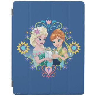 Anna and Elsa | Gift for Sister iPad Cover