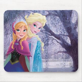Anna and Elsa | Holding Hands Mouse Pad