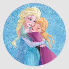 Anna and Elsa | Hugging Classic Round Sticker