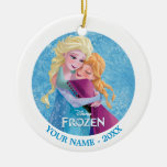 Anna and Elsa Hugging Personalized Christmas Ornaments
