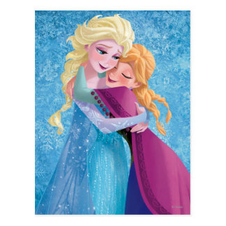 Anna and Elsa | Hugging Postcard