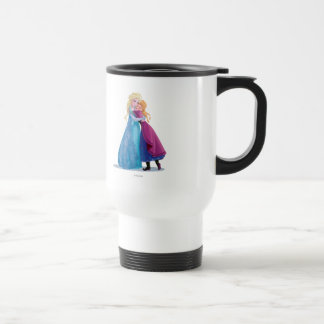 Anna and Elsa Hugging Stainless Steel Travel Mug