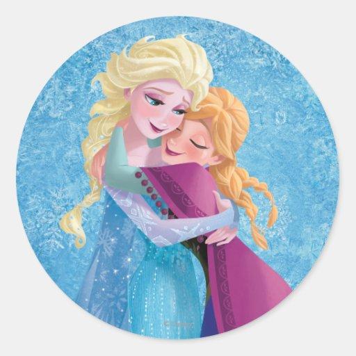 Anna and Elsa Hugging Sticker
