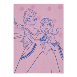 Anna and Elsa | I Love My Sister Poster