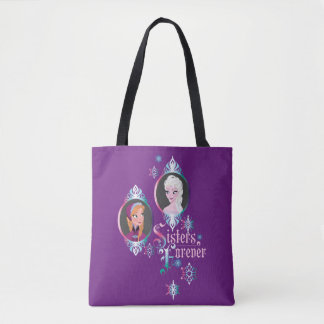 Anna and Elsa   Portraits in Snowflakes Tote Bag