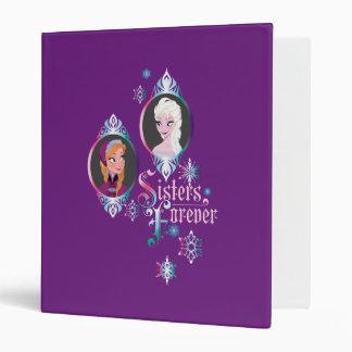 Anna and Elsa | Portraits in Snowflakes Vinyl Binder