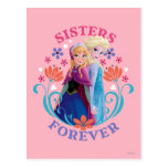 Anna and Elsa | Sisters with Flowers Postcard